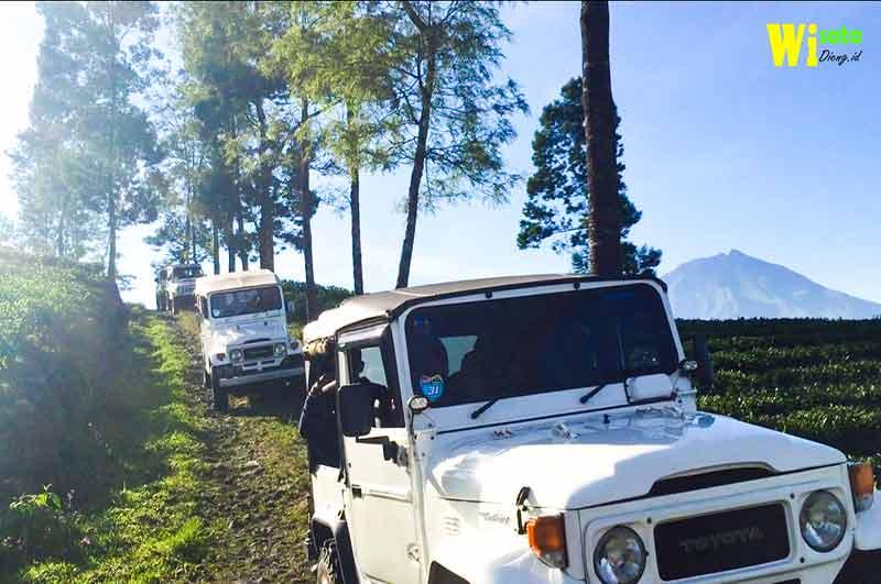 wisata jeep di dieng